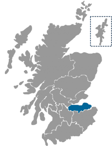 NHS Scotland Healthboard map highlighting NHS Lothian region