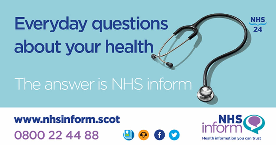 NHS inform – for everyday questions about health